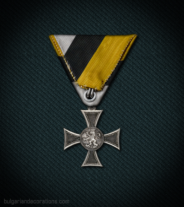 Кръст за X години (офицерски), Борис III, реверс