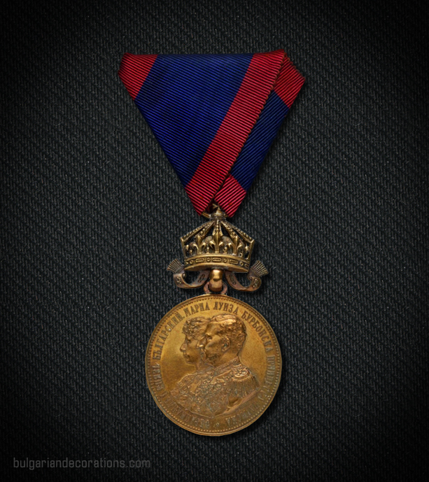 Bronze medal with crown, obverse