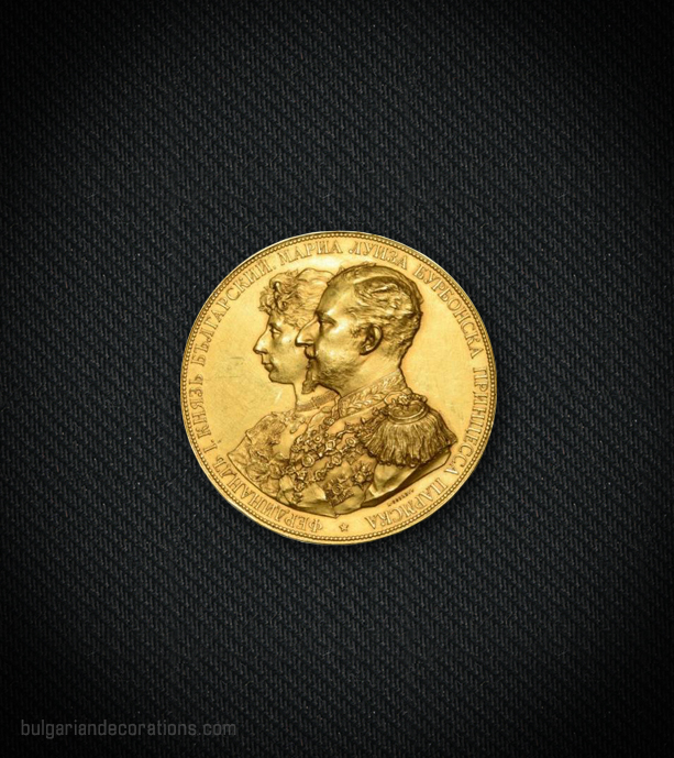 Golden table medal, obverse
