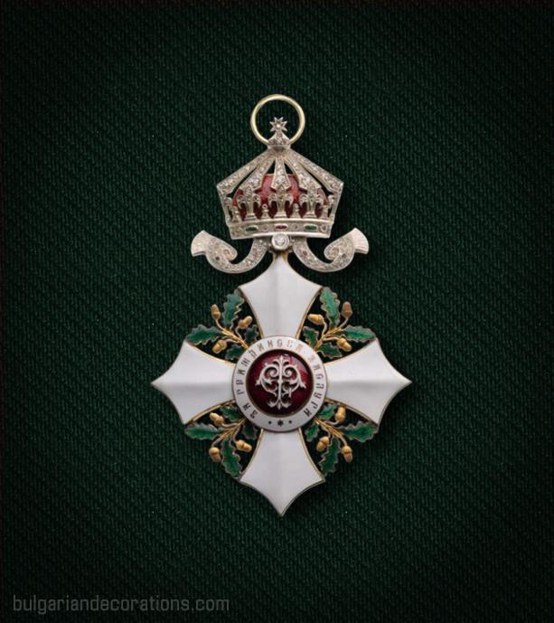 Кръст III степен на Орденa за гражданска заслуга с брилянти, аверс