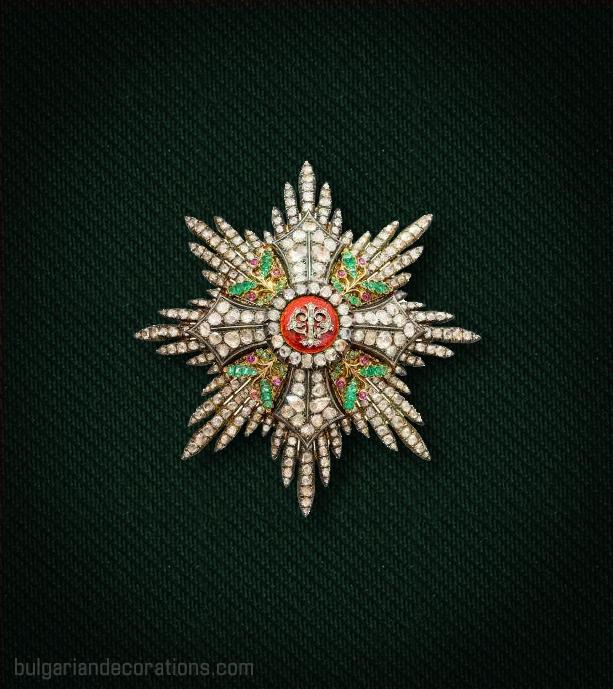 Звезда на I степен (Велик кръст) на Орденa за гражданска заслуга с брилянти, рубини и смарагди