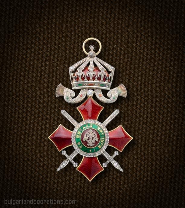 Кръст III степен на Ордена за военна заслуга с брилянти, аверс