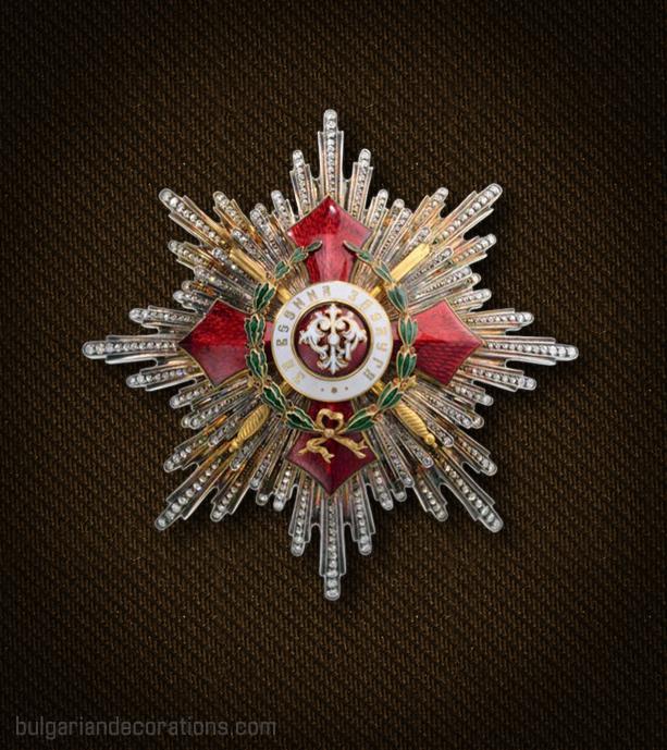 Звезда на I степен (Велик кръст) с военно отличие на Орденa за военна заслуга с брилянти