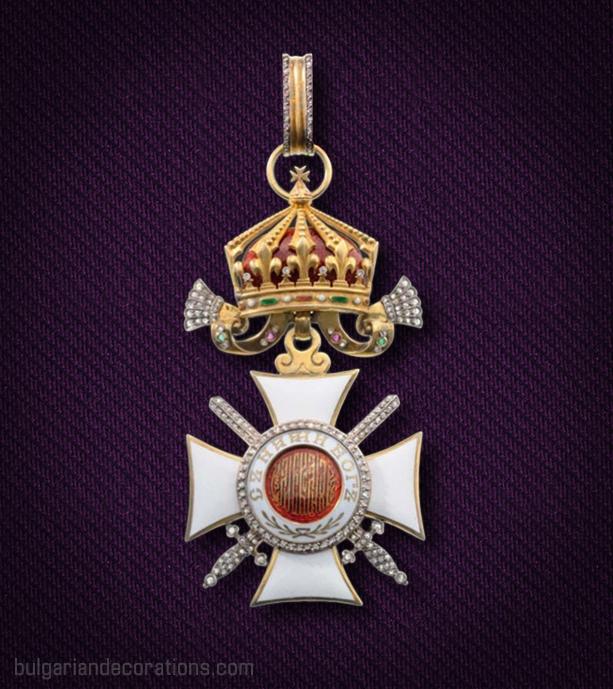 Кръст III степен с мечове през кръста на Царския Орден Св. Александър с брилянти, аверс