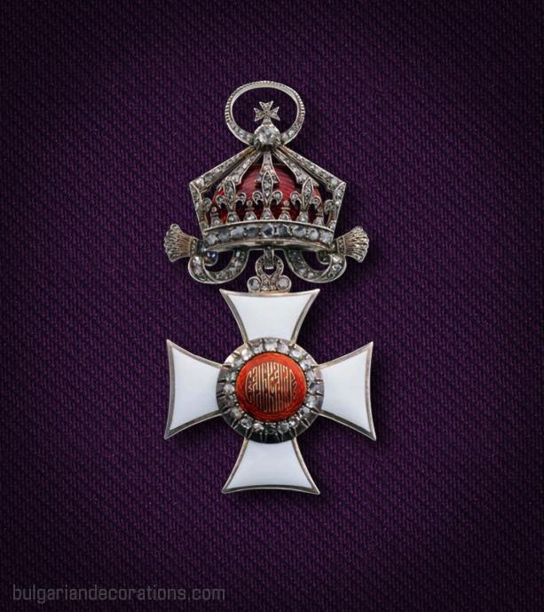 Кръст I степен (Велик кръст) на Царския Орден Св. Александър с брилянти, аверс