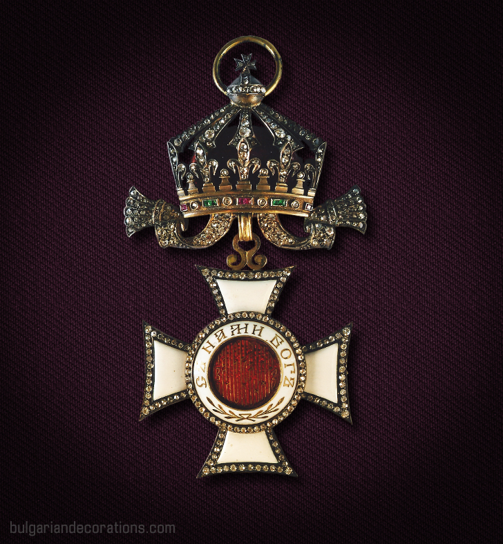 Diamond badge (obverse) of Ist Class/Grand Cross of the Royal Order of St.Alexander