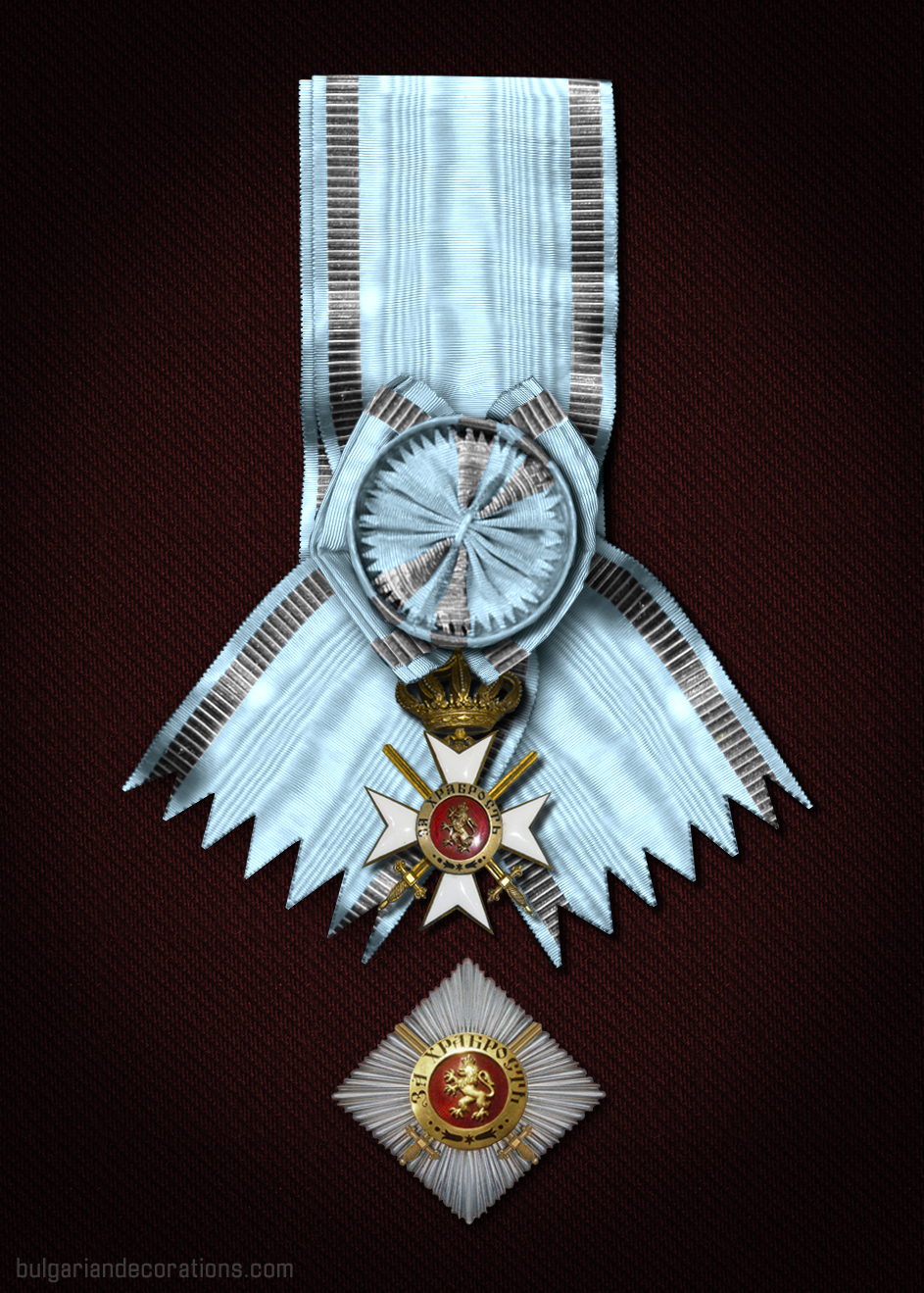 Prince Alexander I Grand cross set (reconstruction)