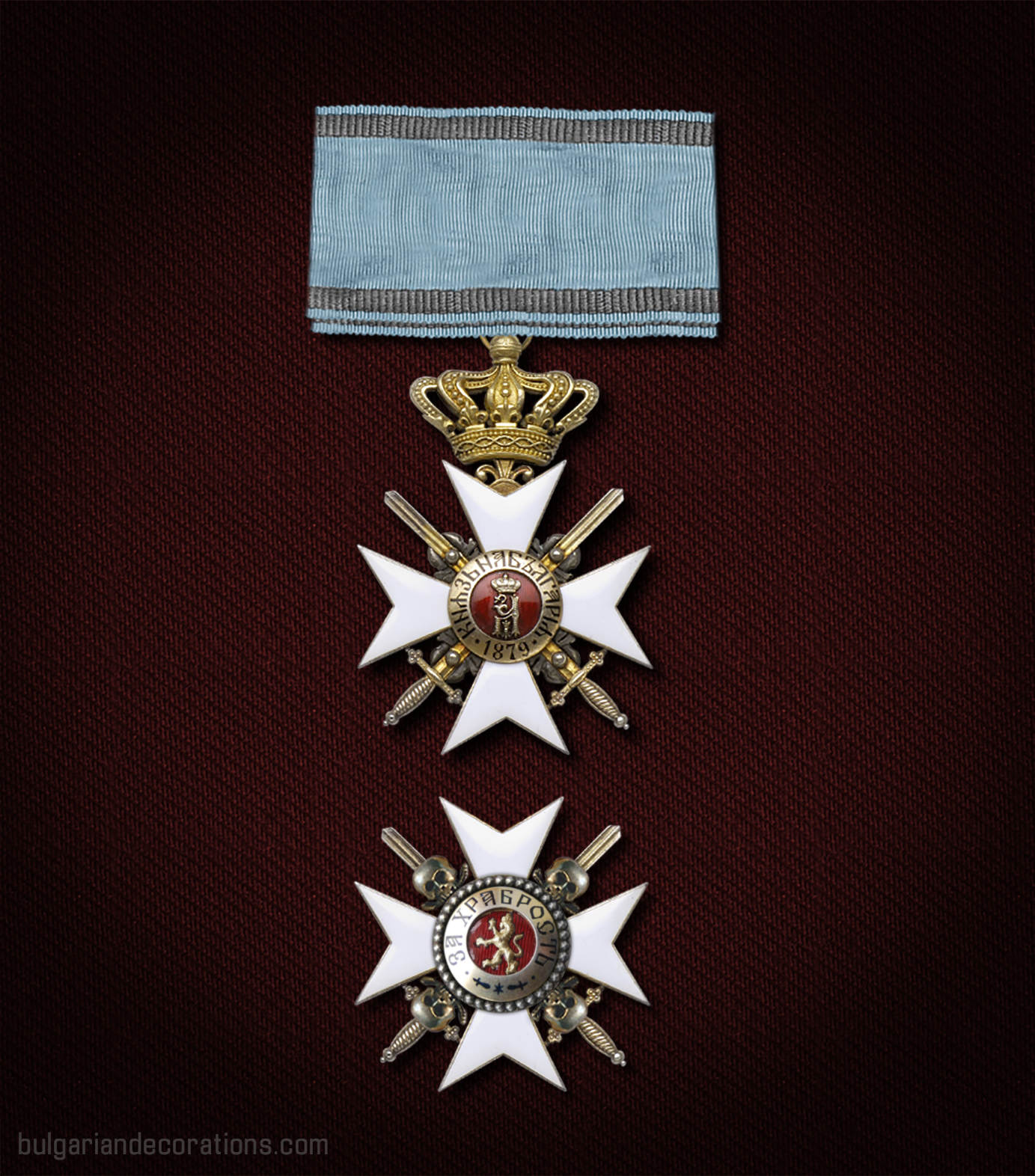 First class set with skulls and crossed bones, reverse and breast star (reconstruction)