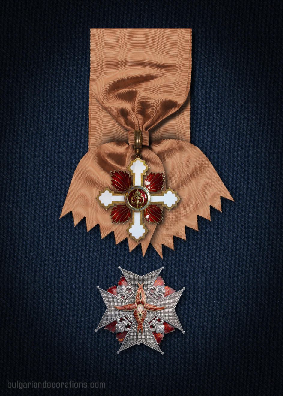 Grand cross set - badge (reverse) and star
