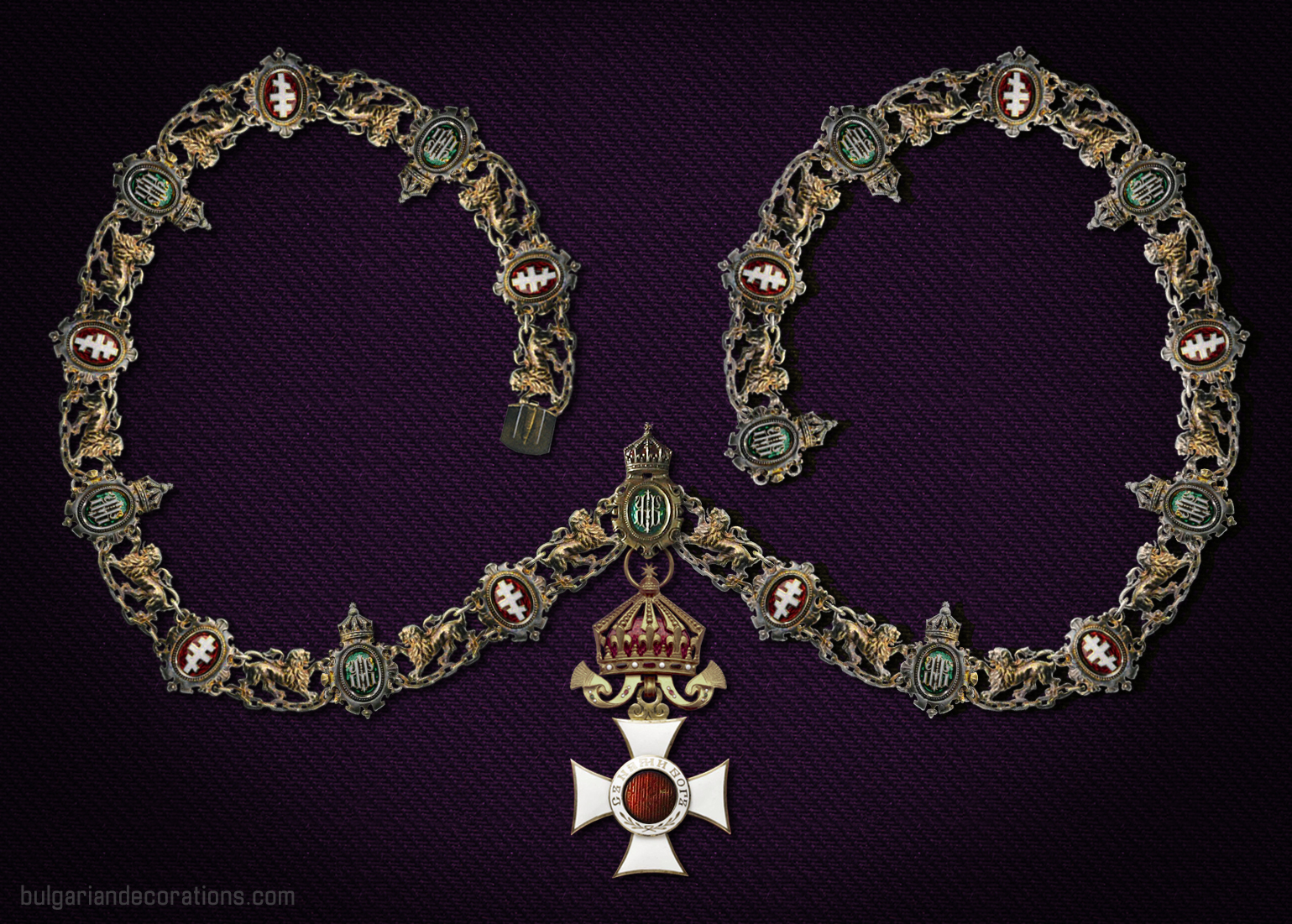 Order necklace, King Ferdinand I/Boris III period